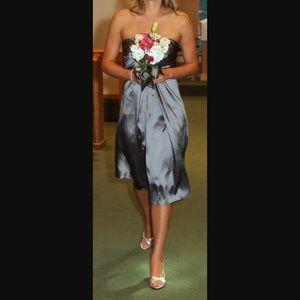 Silver/Gray Strapless Formal Dress